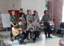 Odwiedziny harcerzy z Poznania
